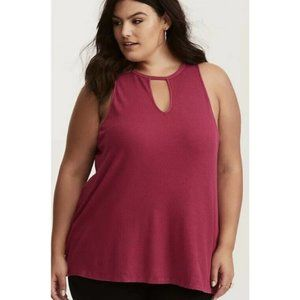 Torrid Super Soft Ribbed Knit Cutout Tank Top